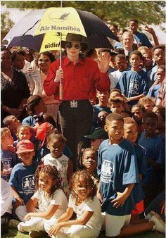 Michael and kids of world ♥