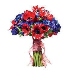 Nautical Wedding Centerpiece Ideas   Anemone and Cornflower Bouquet   Wedding Flowers