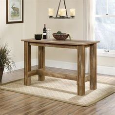 Lowest price online on all Counter Height Dining Table in Craftsman Oak - 416698