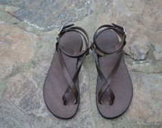 Womens leather sandals strap sandal 100% by GrecianSandals