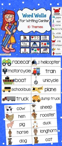 In this pack you will get word walls that consist of 10 different themes/topics with 10 picture word cards for each theme.   These are great to help with spelling. Students can use these to help them spell when they're writing independently. It will already be on display for them to simply grab. Available in Spanish Created by Alma Almazan