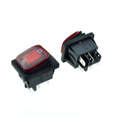 4.63$  Buy here - http://ali5iz.shopchina.info/go.php?t=32788968599 - 2PCS Red Waterproof Rocker Boat Switch Neon bulbs Light DPDT 6Pins 2Positions ON/ON 28x22mm Panel Mount 20A 125VAC/15A 250V  4.63$ #shopstyle