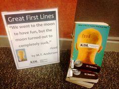 YALSA » Great First Lines YA Book Display