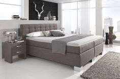 box spring bed Manhattan gray, different finishes furniture beds Source by theresabraml Modern Bedroom, Bedroom Decor, Bedroom Ideas, Home And Living, Living Room, Dressing, Bed Furniture, Folding Furniture, New Room