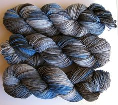 Jackrabbit 4oz hand dyed sock yarn fingering by lightbrownhare, $21.00