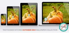 October 2013 Wallpaper Collection. Wallpapers for your Desktop, iPad, iPad Mini and iPhone, in collaboration with Andie.M Design // Foodies Freebies: Descargas gratuitas de la colección de Fondos de Pantalla para Octubre 2013, en colaboración con Andie.M Design