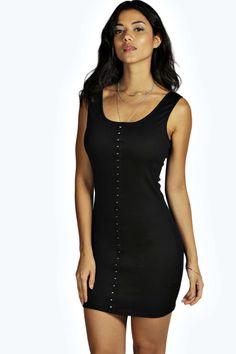 Tasha Ribbed Bodycon Hook and Eye Dress alternative image
