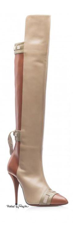 Giorgia Caovilla ~ Tall Leather Boots, Almond/Bronze via Regilla