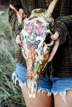 Tumblr deer   Taxidermy art #deer skull #deer art #myranda escamilla