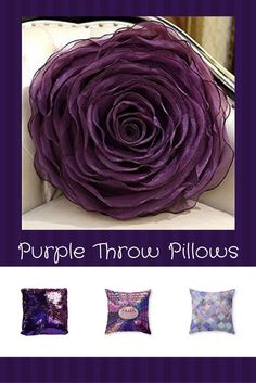 Purple throw pillows are super cute, beautiful and stylish. Use on beds and couches to create a calm and relaxing vibe especially in your living room or bedroom. Indeed, Purple accent pillows along with other purple home d�cor accents make for beautiful