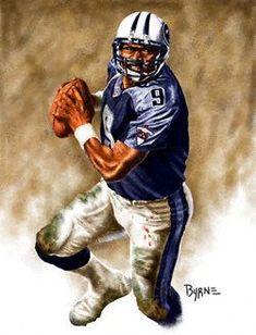 1bcf8649e14 Steve McNair 13x17 Lithograph Football Boys, School Football, Ricky  Williams, Sports Art,