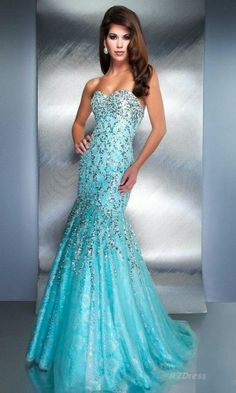 Organza Long Dress Sweetheart Blue Dress RZ034168