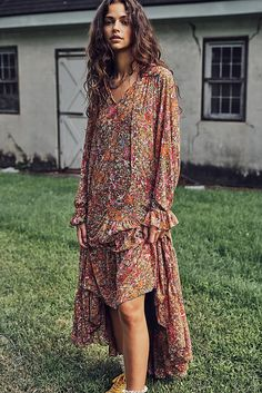 Dresses for Women - Boho, Cute and Casual Dresses   Free People Floral Maxi Dress, Boho Dress, Red Midi Dress, Long Sleeve Midi Dress, Free People Dress, New Dress, Casual Dresses, Fall Maxi Dresses, Fall Fashion