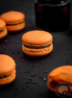 Macarons d'Halloween au sésame noir (sans gluten) - Sucre d'Orge et Pain d'Epices
