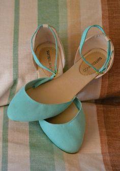 ♥ baby blue ballet flats