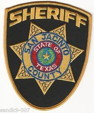 San JACINTO County Sheriff State of TEXAS Shoulder Patch TX