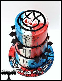 Blink 182 Cake - by CuteologyCakes @ CakesDecor.com - cake decorating website