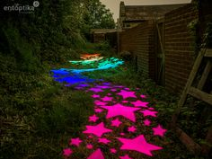 Star Alley Light Painting, Stepping Stones, Colour, Stars, Outdoor Decor, Photos, Inspiration, Home Decor, Color
