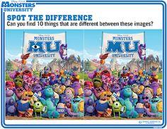 Monsters University Activities #MonstersU