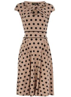 Mink jersey dress with bow