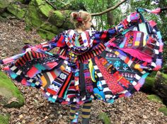 LOVE LOVE LOVE! Crazy patchwork Elf Coat xl xxl - Psychedelic Rainbow - uPcYcLeD SwEaTeRs $425.00