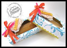 Adorable gift - Little Debbie cake boxes, complete with candle :) totally giftable