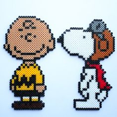 Charlie Brown and Snoopy hama perler beads by Little Miss Productive