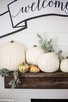 @michaelsstores  Half Pumpkins! Perfect for shallow mantels!
