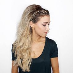 bouffant half updo for long hair | braided #hairstyle