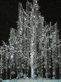 Crystal strands for wedding decoration  Found on Weddingbee.com Share your inspiration today!