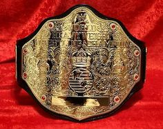 WWE World Heavyweight Championship...same design as NWA/WCW...twice been used to become Undisputed Championship.