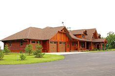 Wisconsin log home