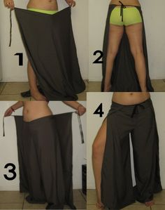 DIY Wrap Pants, I think these would be awesome for the beach or a quick cover up back and forth to the pool.