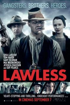 Movie Review Monday  Lawless (2012) - Great cast and great performances in this gangster movie set in rural Virginia during the Prohibition Era.