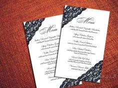 Really liking the lace menus!