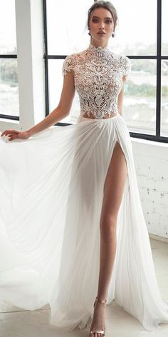 Unique And Hot Sexy Wedding Dresses ❤ See more: http://www.weddingforward.com/sexy-wedding-dresses-ideas/ #weddingforward #bride #bridal #wedding #weddingdress
