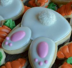 Click Pic for 28 Easter Cookie Recipes - Bunny Tushies - Easy Cookie Recipes for Kids   Easter Treats