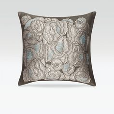 Boconcept Modern Geometric Throw Pillow In Black Light Gray Bronze