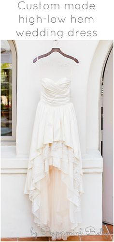 High-low hem wedding dress - custom made by Peppermint Pretty on Etsy - based in the USA!