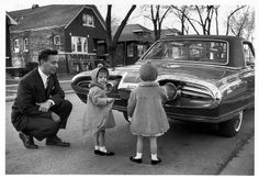 Rick Vlaha: My dad and sisters checking out the distinctive styling of the Turbine car's rear end.
