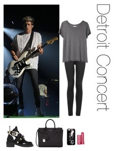 """""""Detroit Concert"""" by thetrendpear-eleanor ❤ liked on Polyvore featuring Yves Saint Laurent, Fresh, Balenciaga, Topshop and Organic by John Patrick"""