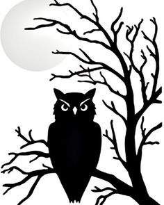 All information about Halloween Owl Silhouette. Pictures of Halloween Owl Silhouette and many more. Halloween Owl, Halloween Clipart, Halloween Painting, Halloween Trees, Diy Halloween Decorations, Halloween Crafts, Martha Stewart Halloween, Halloween Window Clings, Halloween Window Silhouettes