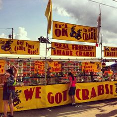 Stand at the Canfield Fair