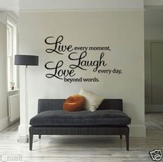live laugh love in wooden letters- I want this painted on the back wall of my classroom.