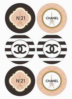 Chanel: Toppers, Etiquetas o Stickers para Imprimir Gratis.: