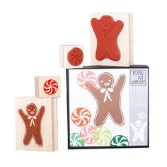 Gingerbread Mint Stamp Set from @Yellow Owl