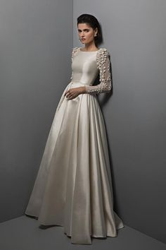 Chana Marelus Bridal Collection Spring 2017 For my Jewish brides that want a more conservative dress for temple Modest Wedding Dresses, Bridal Dresses, Wedding Gowns, Prom Dresses, Conservative Wedding Dress, Wedding Pics, Bridesmaid Dresses, 2017 Bridal, Dream Dress