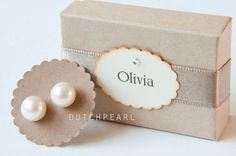 6 SETS of BIG 10mm real pearl earrings studs  by dutchpearl