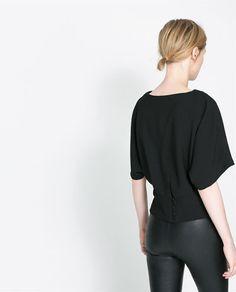 KIMONO - STYLE BLOUSE - Shirts - Woman - New collection | ZARA Philippines