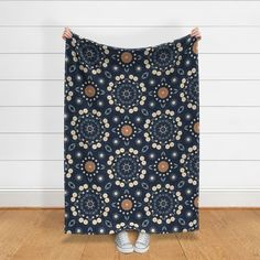 Floral prints available on cushions, blankets, sheets, quilt covers. #bedroomgoals #bedroomdreams #bedroom #girlsbedroom #girlsquilt #girlsbed #floralbed #homedecor #homestyle #homestyling #floralprints #repeatprints #flowerprints #springprints #navyprints #navy #creamflowers Cream Flowers, Girls Quilts, Quilt Cover, Flower Prints, Fabric Flowers, Girls Bedroom, Custom Fabric, Spoonflower, Blankets